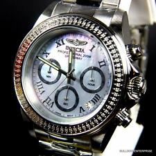 Invicta Speedway 72 White Diamonds Platinum MOP 40mm Stainless Steel Watch New