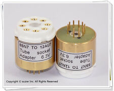 1× 6SN7 replace 12AU7 Vacuum Tube Amplifier Convert Socket Adapter (6.3V)
