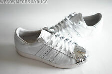 Adidas Superstar 80's Metal Toe W WHITE WHITE SILVER METAL TOE Shelltoe size 7
