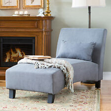 Grey Arched Back Chaise Lounge Indoor Home Living Room Seating Furniture Office