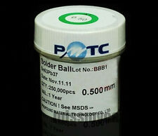 BGA Reflow /Rework /Repair Solders 1 Bottle Of 250K 0.5mm Solder Balls With Pb