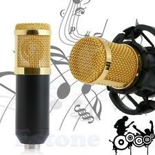 BM - 800 Condenser Sound Recording Microphone + Shock Mount for Braodcasting