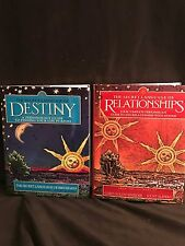 2 Book Lot- Secret Language of RELATIONSHIPS & DESTINY Astrology Karma HARDCOVER