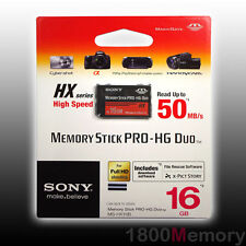 GENUINE SONY 16GB Memory Stick PRO-HG Pro Duo HX PSP 50MB/s High Speed MagicGate