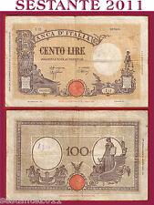 ITALIA,  ITALY,  100  LIRE GRANDE B FASCIO 9.12. 1942,   P. 59,  BB / VF  (RB)