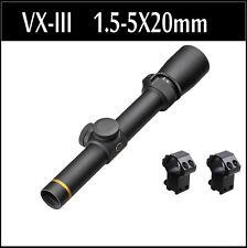 Tactical Riflescope 1.5-5X20mm VX-III LP Mil-Dot Matte Duplex Rifle Scope