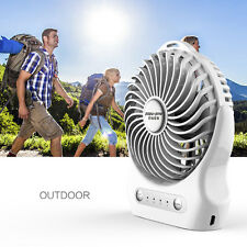 Portable Rechargeable USB Mini Air Conditioner Cooling Cool Desk Fan + Battery