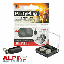 ALPINE PARTYPLUG MUSICA Earplugs Acoustic FILTRO nrr19db PARTY PLUG-gratis UK P & P