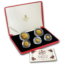 1986 Isle of Man Angel 5-Coin Gold Proof Set - SKU #51203
