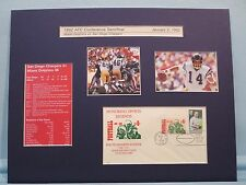 San Diego & Dan Fouts beat Miami in 1982 Playoff Game in OT & First Day Cover