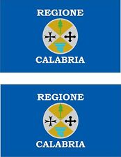 2x sticker Adesivo Adesivi decal macbook Vinyl auto moto bandiera Calabria