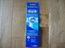 Genuine Braun Oral B Precision Clean Brush Head x 2 Pack