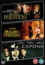 Road To Perdition/ Miller's Crossing/ Capone (DVD, 2009, 3-Disc Set) New