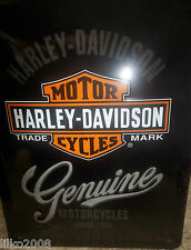 HARLEY DAVIDSON (GENUINE MOTORCYCLES),  20X15 CM   LICENCED , EMBOSSED WALL SIGN