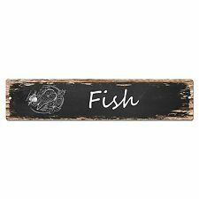 SP0031 Fish Street Sign Bar Store Shop Cafe Home Kitchen Shabby Chic Decor