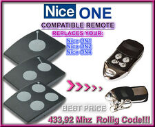 NICE ON1,ON2, ON4  433,92MHz,Compatible Remote control Replacement, Transmitter
