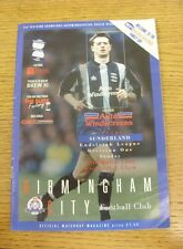 17/03/1996 Birmingham City v Sunderland  (minor folding/creasing).  We are pleas
