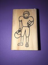 A MUSE Artstamps Amuse Rubber Stamps Football Player