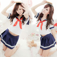 Japanese School Girl cosplay -UK Seller- Womens Sexy babydoll student uniform