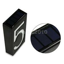 Solar Led Illuminated House Door Number Light Wall Plaque Modern Number 5