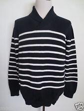 Maritim Pullover JAN PAULSEN XL Baumwolle Streifen dunkelblau weiß wie NEU/D1