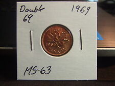CANADA ONE CENT 1969 DOUBLE 69 ,  MS-+++!!!!!