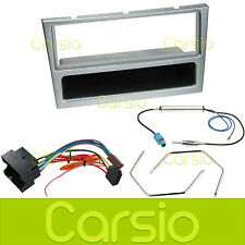 Vauxhall Corsa C 2004   Silver Fascia Panel Surround Stereo Fitting Kit Aerial