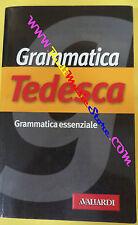book libro GRAMMATICA TEDESCA essenziale 2002 VALLARDI (L27)
