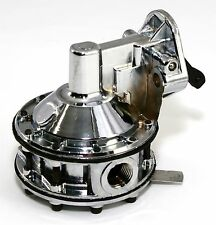 SB Chevy Chrome Mechanical Fuel Pump High Volume 350 400 130 GPH Flow SBC