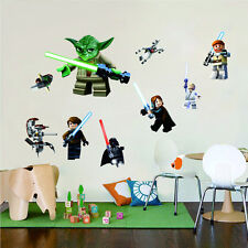 Star Wars 3D Decal 9 Characters WALL STICKER Perfect for Boy Room Free Shipping