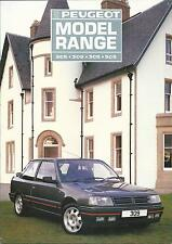 Peugeot 1987 Model Range UK Brochure Ft 205 XS CTI GTI GT 309 GTI 305 505 V6