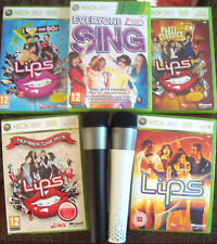 Lips Party Classics 80s Everyone Sing Karaoke Games Xbox 360 Wireless Microphone
