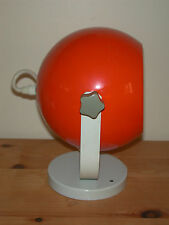 Lampe grande boule eye ball orange design vintage 70's space age Diamètre 17,5