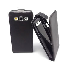 Black Leather Case Cover Pouch + Film For Samsung GT-i8552 Galaxy Win Duos p