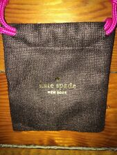 Kate Spade Drawstring Dust Pouch For Keychain Hang tag Key fob Brown 3.75x4