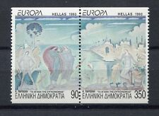 s2456) GREECE 1993 MNH** Nuovi** Europa, modern art 2v from booklet