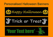 Happy Halloween Banner For Kids Home Room Decoration & Trick or Treat Faavours