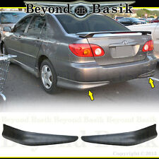 2003-2008 Toyota Corolla 2PC OEM Factory S-Style Rear Bumpers Chins PP Body Kit