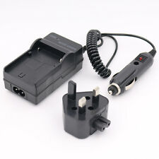MAINS Charger for PANASONIC LUMIX DMC-FS16 DIGITAL CAMERA Battery HOUSE + CAR UK