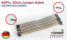 40Pin Jumper Kabel, Pinkabel männlich nach weiblich für Arduino Raspberry Pi