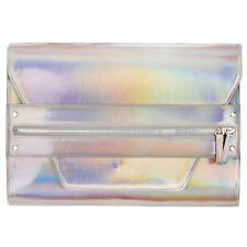 Rock Religion Womens Girls Large Clutch Bag Patent Hologram Oversized Handbag