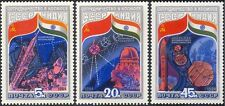 La RUSSIA SOVIETICA 1984-INDIAN Space Flight/Rocket/satellitare/RADIO piatto 3v Set b4495