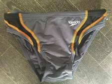 "BOYS SPEEDO ENDURANCE 'SPLICE' GREY/ORANGE BRIEF TRUNKS AGE 12 YEARS 30"" NEW!"