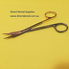Dental Instruments Scissor Fox Crved One Blade 130mm Gold Man Buy 2 Get 1 Free