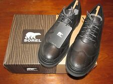 New in Box!! Sorel Men's Madson Wingtip Lace * Black * Size 8 * FREE SHIPPING!!