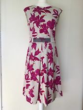 MARELLA Cerise Rosa Floreale DRESS NEW UK Taglia 12