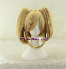 Vocaloid Kagamine Rin Hard-R.K.mix Lolita blonde Cosplay Wig Clip on 2 Ponytails