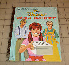 1975 THE WALTONS And The Birthday Present LITTLE GOLDEN BOOK - VG Condition