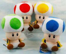 SUPER MARIO BROS. PELUCHE TOAD - TUTTI E 4 - 4x Plush Toad Pupazzo Doll