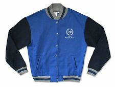 Paul McCartney Embroidered PM Logo Blue Sweat Varsity Jacket Medium New Official
